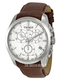 Tissot T-Trend Couturier Silver colored/Leather Ø41 mm T035.617.16.031.00