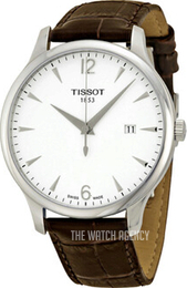 Tissot Tradition White/Leather Ø42 mm T063.610.16.037.00