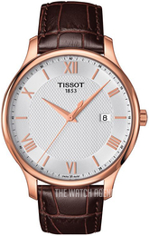 Tissot Tradition Gent Silver colored/Rose gold colored steel Ø42 mm T063.610.36.038.00