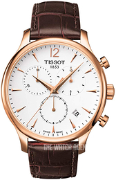 Tissot Tradition White/Leather Ø42 mm T063.617.36.037.00