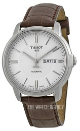 Tissot Automatics III Silver colored/Leather Ø39.7 mm T065.430.16.031.00