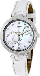 Tissot T-Lady Flamingo White/Leather Ø26 mm T094.210.16.111.01