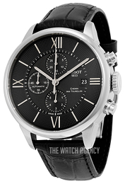Tissot Chemin Des Tourelles Automatic Chronograph Black/Leather Ø44 mm T099.427.16.058.00