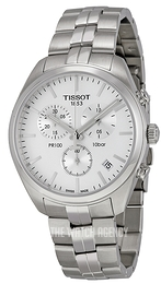 Tissot PR 100 Chronograph Gent Silver colored/Steel Ø41 mm T101.417.11.031.00