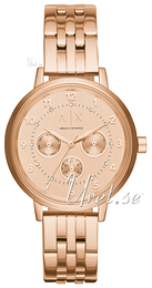Emporio Armani Dress Rose gold colored/Rose gold colored steel Ø39 mm AX5374
