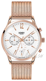 Henry London Hampstead White/Rose gold colored steel Ø41 mm HL41-CM-0040