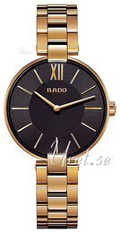 Rado Coupole Black/Yellow gold toned steel Ø33 mm R22851163