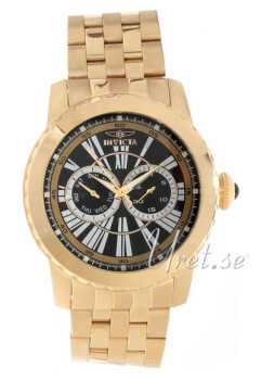 Invicta Specialty Black/Yellow gold toned steel