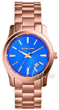 Michael Kors Runway Blue/Rose gold colored steel Ø38 mm