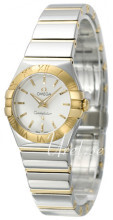 Omega Constellation Quartz 24mm Silver colored/18 carat yellow g