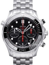 Omega Seamaster Diver 300m Co-Axial Chronograph 41.5mm Black/Ste