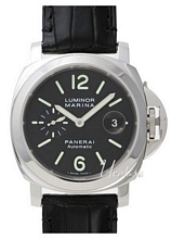 Panerai Contemporary Luminor Marina Automatic Black/Leather Ø44