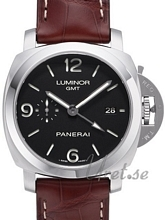 Panerai Contemporary Luminor 1950 3 Days GMT Automatic Black/Lea
