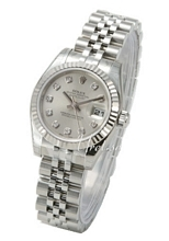 Rolex Lady Oyster Perpetual Silver colored/Steel